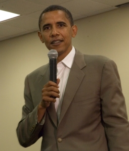Obama Speaking in Waterloo, Iowa 2007